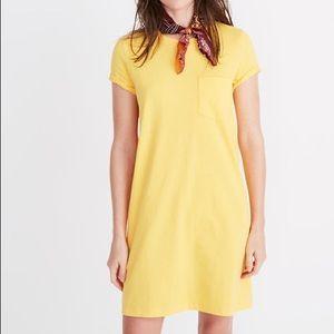 Madewell Tee Dress Size: M, Yellow